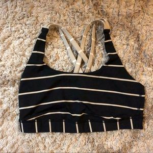 Great condition striped Lululemon sports bra